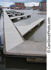 Empty landing stage - available docks for boats at the...