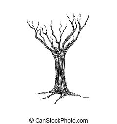 Dry Tree icon. Nature design. Vector graphic - Nature...