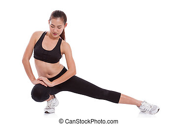woman stretching exercise.