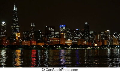 Chicago Skyline Panorama - Chicago downtown cityscape...