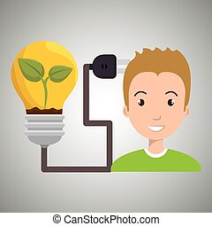 people and electricity isolated icon design, vector...