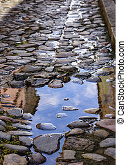 Driveways the Pillory - Old cobblestone walkways in the...