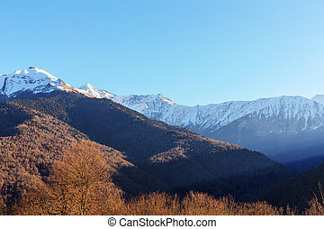 landscape in the Caucasus mountains