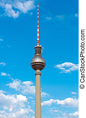 tv, bástya, németország,  berlin
