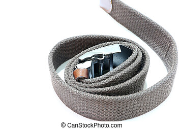 Fashion belt on the white background ,Rope belt