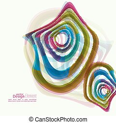 Deformed geometry torsion texture - Abstract background with...