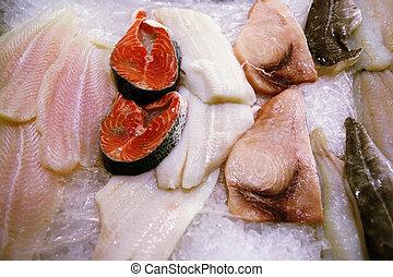 Fresh fish at a fish market