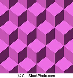 Seamless pattern vector cube art - Abstract Seamless pattern...