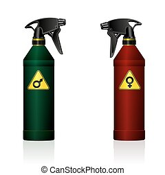 Gender Fight Male Female Spray - Gender fight - symbolized...