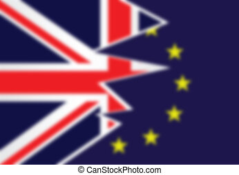Blurred background flag United Kingdom exit from the...