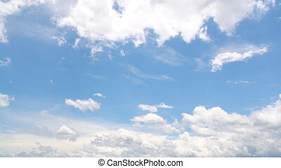 the clear sky with a cloud at 14x speed