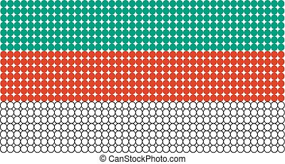 Flag of Bulgaria - Abstract dotted flag of Bulgaria made...