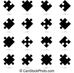 a black jigsaw pieces