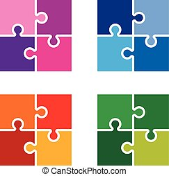 colourful  jigsaw pieces background