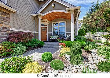 Home exterior with concrete patio area