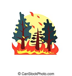 Blazing Forest Natural Force Sticker - Blazing Forest...