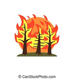 Forest Fire Natural Force Sticker - Forest Fire Natural...
