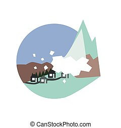 Avalanche Destroying The Village Natural Force Sticker -...