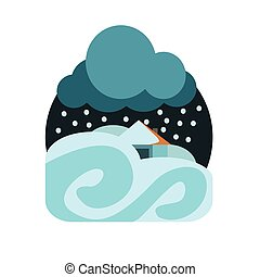 Heavy Snowstorm Natural Force Sticker - Heavy Snowstorm...