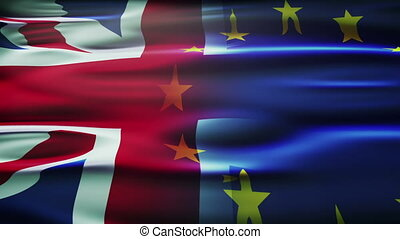 United kingdom and European union flag. - United kingdom and...