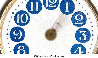 macro - hyperlapse of a clock - timelapse. 4k