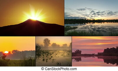 sunrise - timelapse summer - sunrise - timelapse multiscreen...