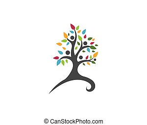 Eco Tree Logo Template - Tree leaf vector logo design,...