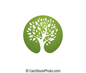Healthy Logo Template - Tree leaf vector logo design,...