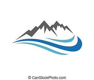 Mountains Logo Template - High Mountain icon Logo Business...