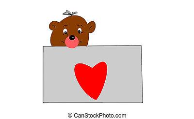 the heart - the teddy bear and heart