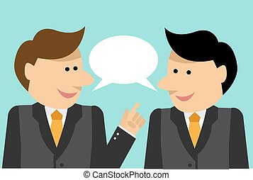 Businessmen engaged in dialogue - Two businessman share...