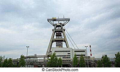 gruvdrift, axel, kol, har, blitt, Utgräv, på, Silesia, för,...