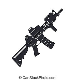 assault rifle vector - Modern illustration of various...