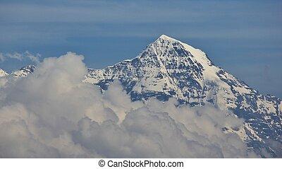 niederhorn,  monch,  MT, nuvoloso, visto, giorno