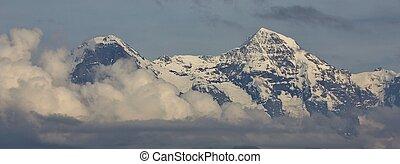 MT, picchi,  monch,  Eiger