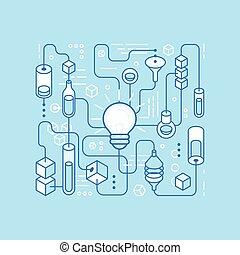 Vector idea generating process - infographics design...