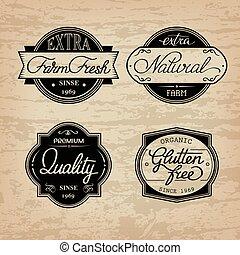 set of universal bottle labels - Design set of universal...