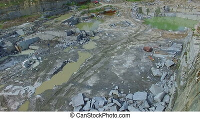 Flying over a stone quarry - Flying over the stone quarry....