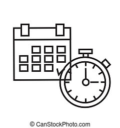 Time Planning. The clock and calendar - concept of time....