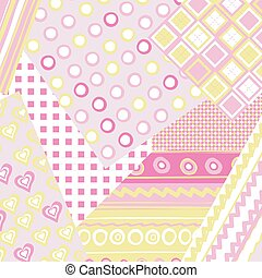 Patchwork cover for baby girl