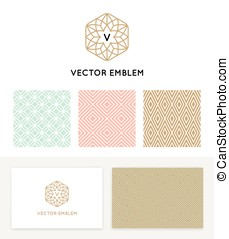 Vector set of graphic design elements, logo design templates...