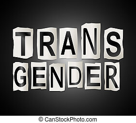 Transgender word concept. - Illustration depicting a set of...