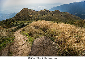 Qixing Mountain at Yangmingshan National Park, the peak of...