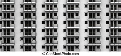 fictitious 3D rendering of anonymous apartments in a city...