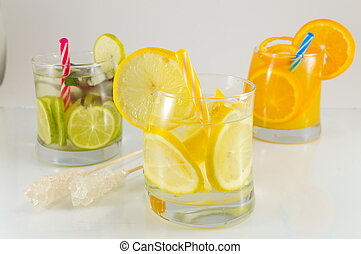 Lime fruit non alcoholic cocktails for summer refreshment -...