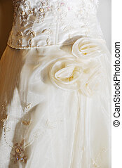 Wedding Gown - White wedding gown on plain background