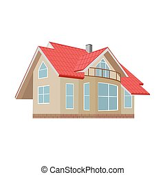 home, house, vector illustration