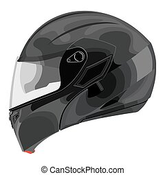 Motorcycle helmet on a white background