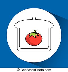 food nature healthy vegetables isolated, vector illustration