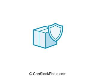 Parcel delivery service - Box parcel delivery icon Vector...